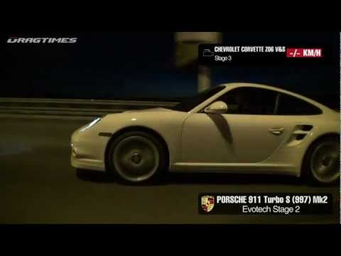 Chevrolet Corvette Z06 vs Porsche 911 Turbo Evotech Music Videos
