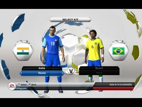 FIFA 13 India vs Brazil - The Hindi Gamer - Exciting Match