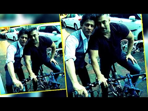 Shahrukh Khan & Salman Khan RIDING Bicycle Together On Mumbai Street
