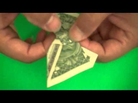 Origami dollar butterfly video