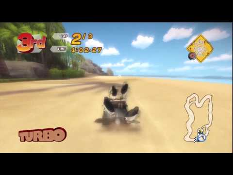 Madagascar Kartz (PS3) 100cc race: Shark Beach