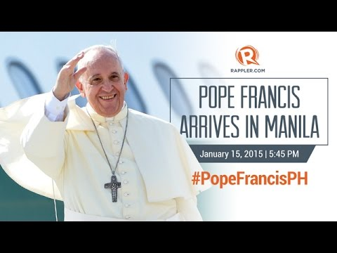 #PopeFrancisPH: Pope Francis arrives in Manila