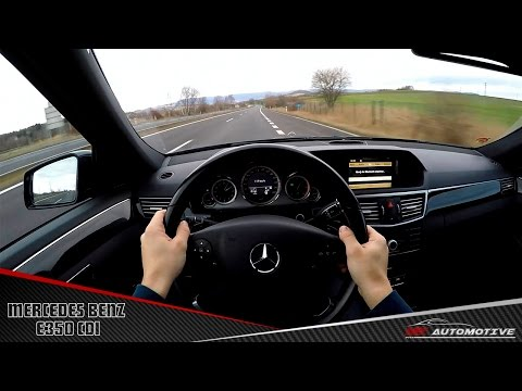 Mercedes Benz E350 CDI POV Test Drive + Acceleration 0 - 200 km/h