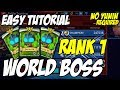 GunboundM Tutorial: How to be Rank 1 in WORLD BOSS | Using 3 Doctor M