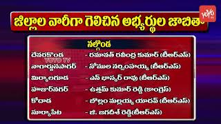 Telangana District Wise Wining Candidates | TRS | Telangana Congress | BJP