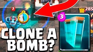 CLONE A GIANT SKELETON'S BOMB? IS IT TRUE?   Clash Royale