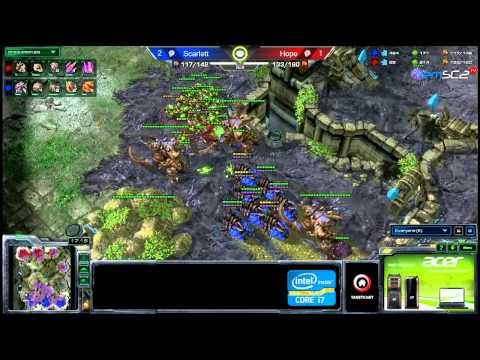 ATC ZvZ Acer Scarlett vs Mouz Hope g3 NeoPlanet S Starcraft 2 HD polski komentarz