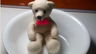 How to make a teddy bear from play-doh