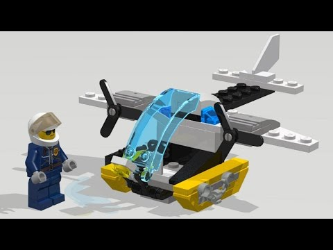 🔴 LEGO City 30346 Prison Island Helicopter. Speed build / Instruction