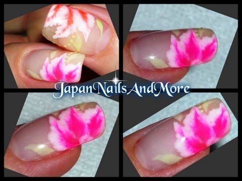 Gel polish to create One Stroke flowers