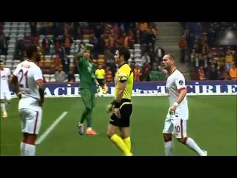 Galatasaray   Mersin İdman Yurdu 3 2 Geniş Özeti(HD) 20 12 2014
