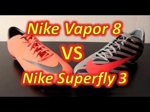 Nike Mercurial Vapor VIII VS Nike Mercurial Vapor Superfly III - Comparison