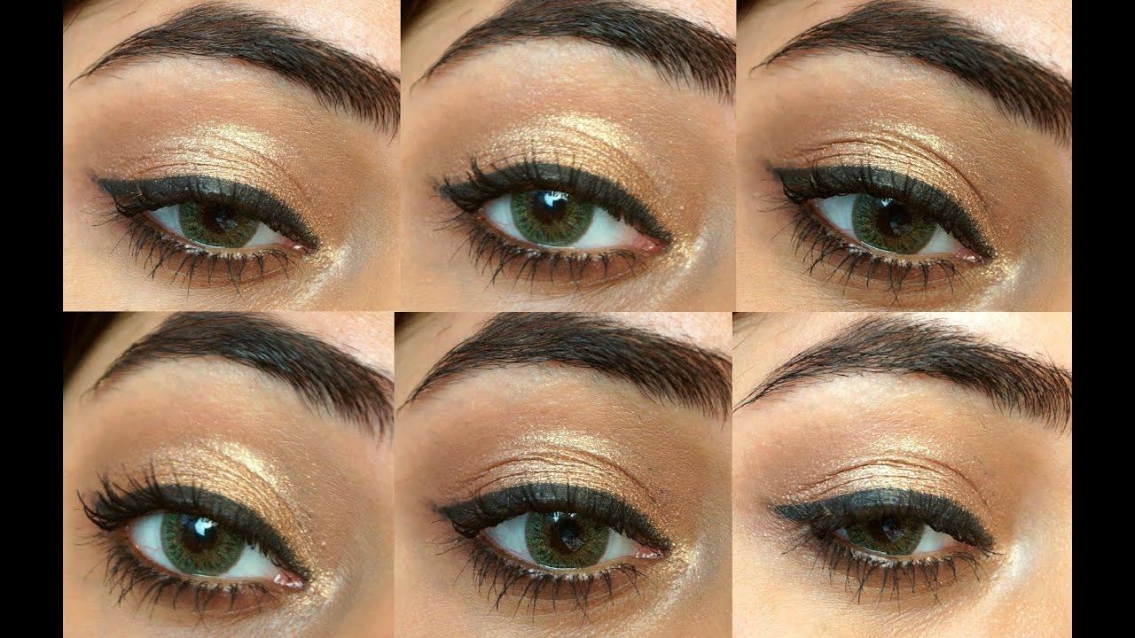 Quick Bridal Makeup : 5 Minute Party Eye Makeup Tutorial corallista - YouTube