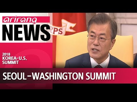Presidents Moon and Trump agree to push for N. Korea summit as scheduled