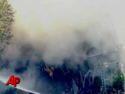 Raw Video: House Explodes in Queens