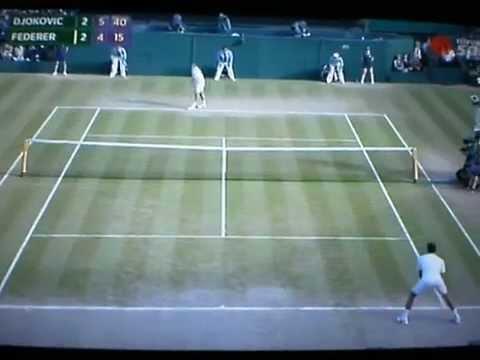 ATP WIMBLEDON 2014 FINAL ROGER FEDERER-NOVAK DJOKOVIC LAST BALL