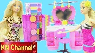 Đồ chơi trẻ em Búp bê Barbie tập 31 Tiệm làm tóc make up Hair Salon Kids toy