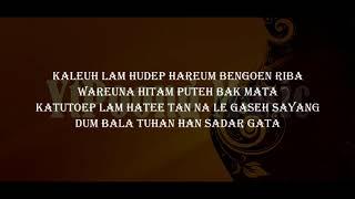 Syair  M Agung  Hitam Puteh Bak Mata  YtPoong Music Lyrics Video