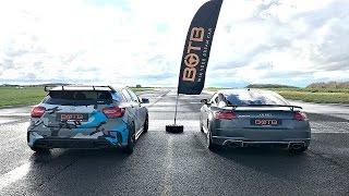DRAG RACE! Mercedes A45 AMG VS AUDI TT RS!