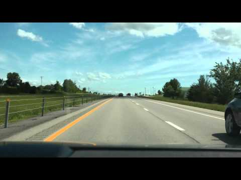 U.S. 63 highway southbound from Columbia, MO to Jefferson City, MO June 2013
