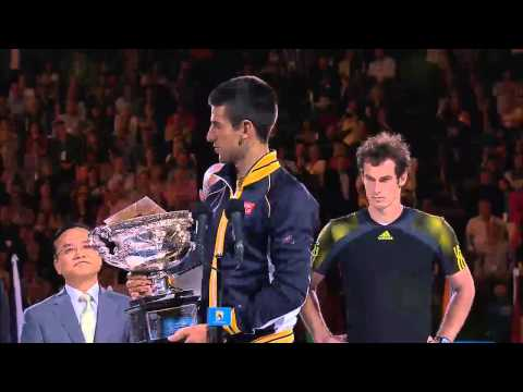 Men's Final Speeches - Australian Open 2013