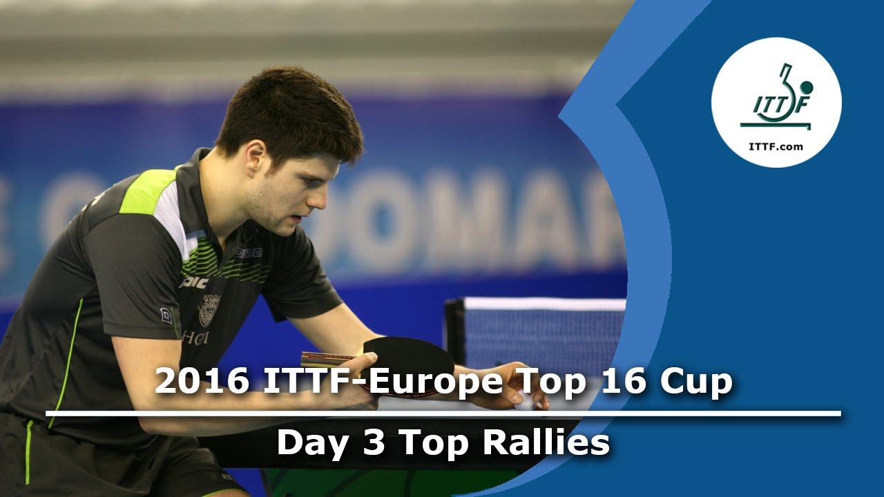 2016 ITTF-European Top 16 - Day 3 Top Rallies