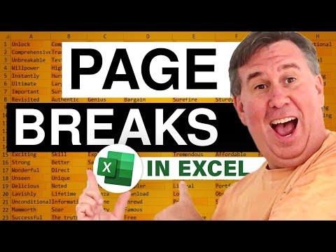 Page Break 2010 Excel Learn Excel 2010 Page Breaks