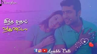 Vizhi moodi yosithal whatsapp status  tamil love s