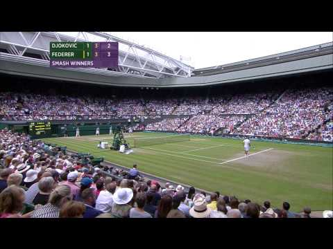 Wimbledon 2014 Men's Final - Novak Djokovic (1) vs Roger Federer (4) [No Commentary] {HD 720p}