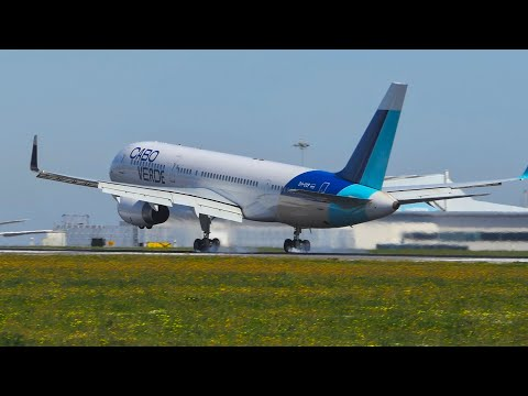 RARE Cabo Verde's B757, Airbus A21neo and More | Landings and Departures