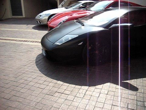 Supercars In Cannes - Gumpert Apollo + 3 Lamborghini Murcielago 1 With Pink Interior + McLaren SLR + Ferrari 599 GTB Part 2 Video