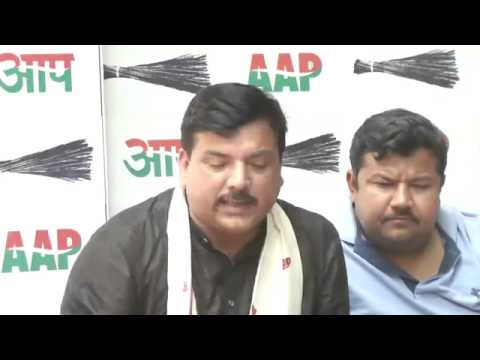 Aam Aadmi Party Attacks BJP & Shivsena Over Sanjay Raut and Sakshi Maharaj Statement