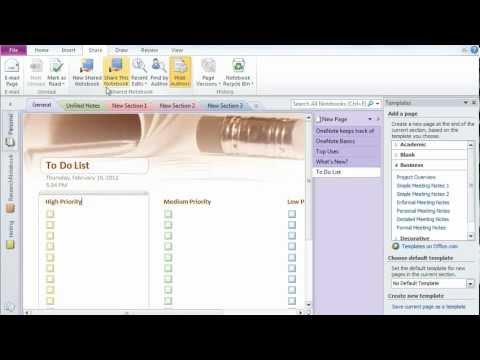 Microsoft Office OneNote 2010 - A tutorial- Great tool of Office 2010