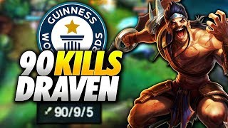 EL RECORD DEL MUNDO DE KILLS DE LEAGUE OF LEGENDS | 90 KILLS DRAVEN