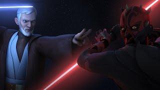 OBI WAN VS DARTH MAUL DUEL in Star Wars Rebels Review