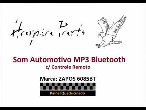Som Automotivo MP3 Bluetooth USB SD FM AUX EQ - Quadriculado
