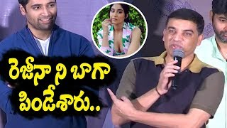 Dil Raju Super Words about Regina at Evaru Success Meet | Evaru Movie | Top Telugu Media