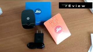 UnBoxing of JioFi or MiFi, WiFi hotspot , with Jio 4G sim preview offer...!!!