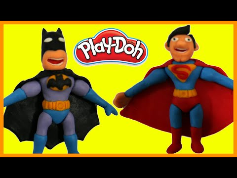 Batman vs Superman Superhero Battle Prank STOP MOTION Play Doh Animation Movie Clips Superheroes thumbnail