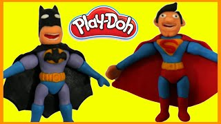 Batman vs Superman Superhero Battle Prank STOP MOTION Play Doh Animation Movie Clips Superheroes