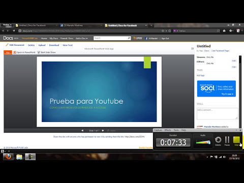 Como subir documentos a facebook