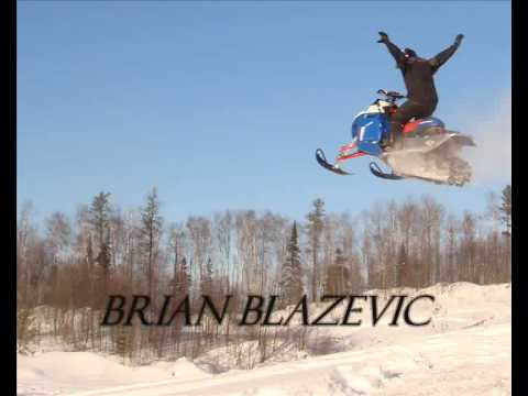 Brian Blazevic, Snowmobiling, mountain riding, Snowmobile jumping,