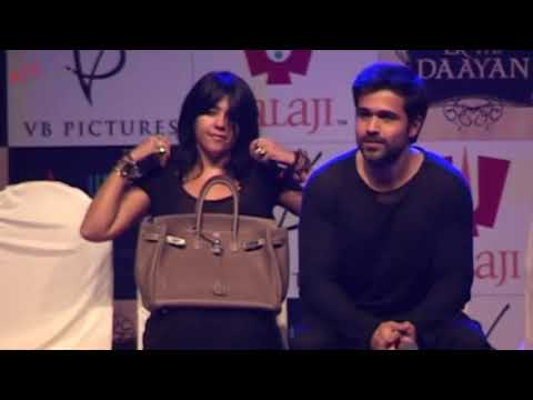 Ekta Kapoor Wardrobe Malfunction At Film Launch video