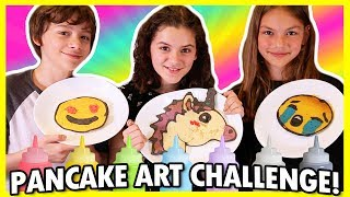 😍 PANCAKE ART CHALLENGE! 🦄  EMOJI VERSION! 🍕
