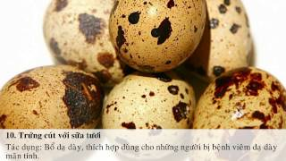 Tác dụng không ngờ của trứng cút và các phương thuốc bổ dưỡng từ trứng cút