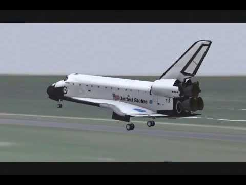 Bounced landing extreme | F-Sim Space Shuttle
