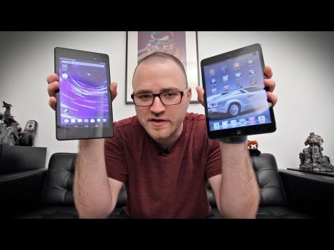 Nexus 7 vs iPad Mini Showdown! (New Nexus 7 2013)