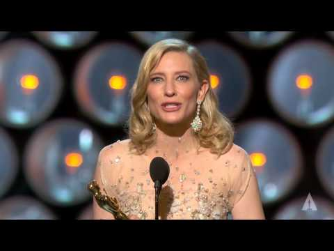 Cate Blanchett winning Best Actress for