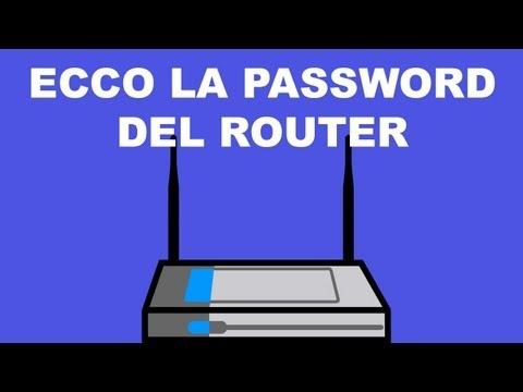 Ecco qual è la password di default del router