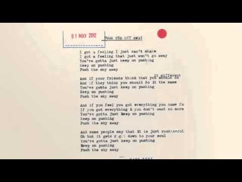 Nick Cave & The Bad Seeds   Push The Sky Away Lyric Video